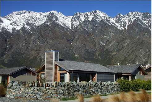 One of 30 completed Jack's Point cedar roofs, Queenstown